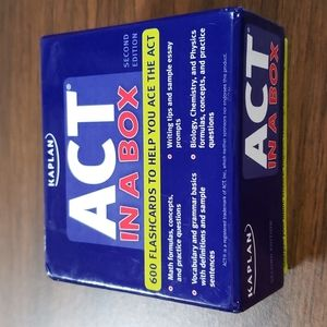 Kaplan ACT In A Box 2nd Edition 600 Flashcards